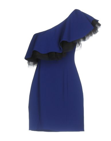 Фото 2 - Женское короткое платье LUCILLE ярко-синего цвета