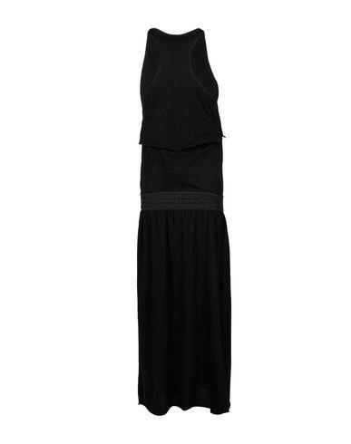 Фото 2 - Женское длинное платье JIJIL черного цвета