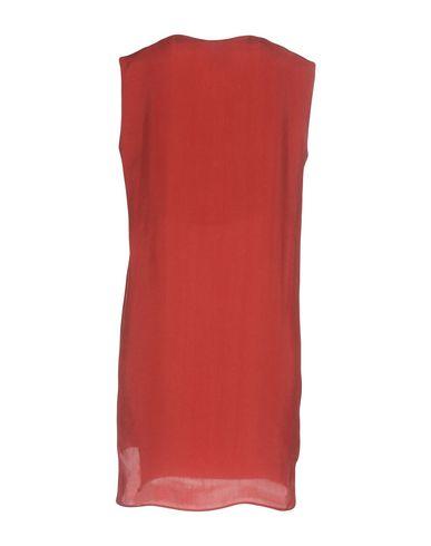 Фото 2 - Женское короткое платье JIJIL кирпично-красного цвета