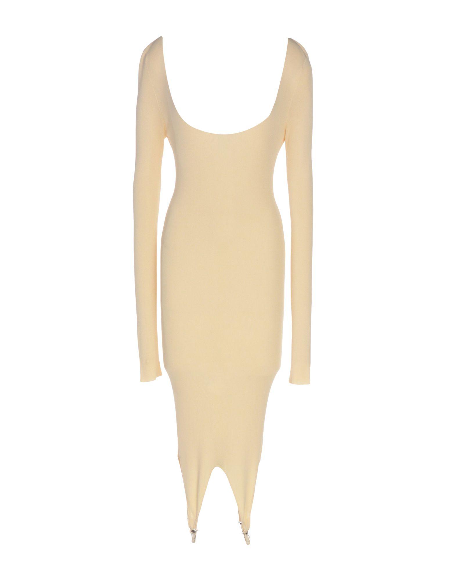 цена  JEAN PAUL GAULTIER MAILLE FEMME Платье до колена  онлайн в 2017 году