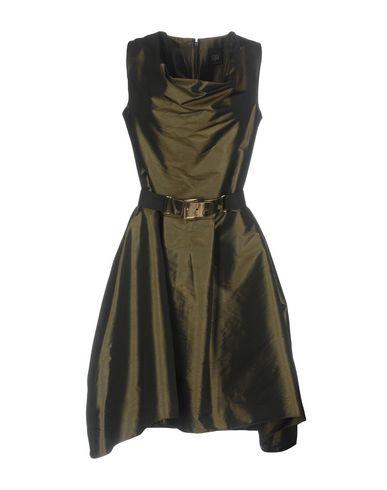 Фото - Женское короткое платье JIJIL темно-зеленого цвета