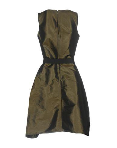 Фото 2 - Женское короткое платье JIJIL темно-зеленого цвета