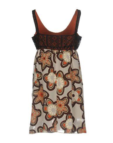 Фото 2 - Женское короткое платье JIJIL темно-коричневого цвета