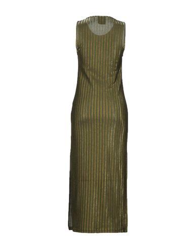Фото 2 - Женское длинное платье JIJIL цвет зеленый-милитари