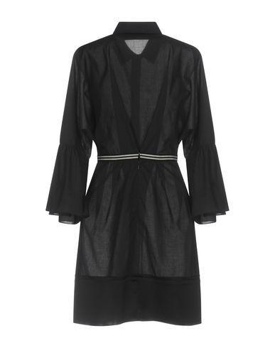 Фото 2 - Женское короткое платье ALBINO TEODORO темно-синего цвета