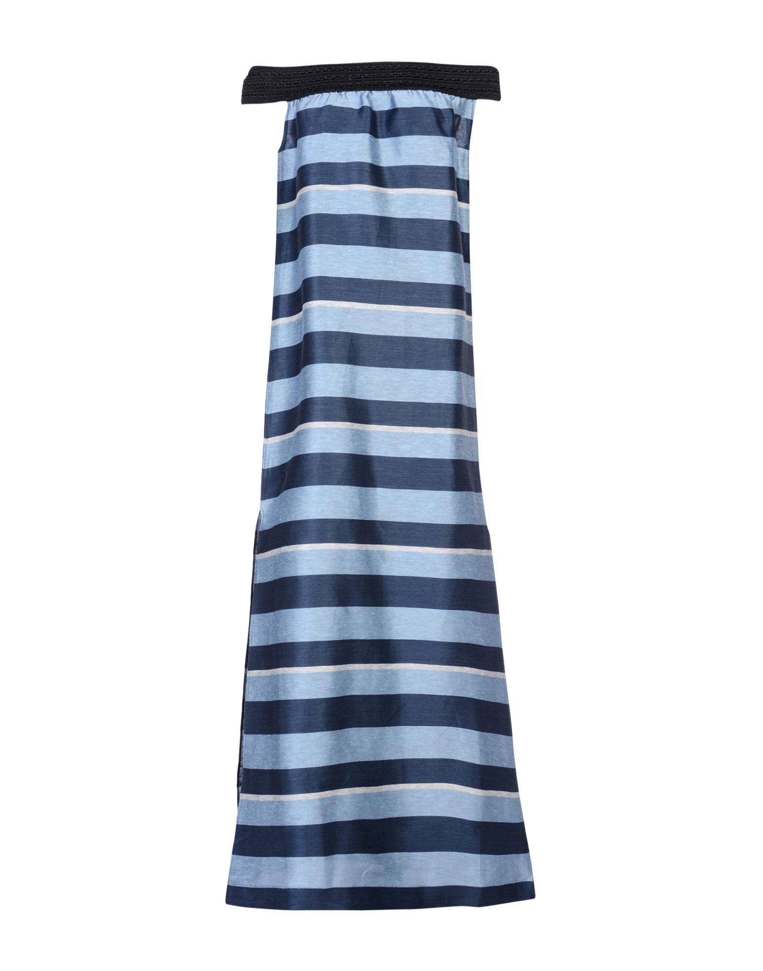 JIJIL Long Dress in Pastel Blue