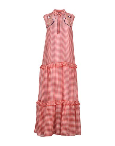 Фото - Женское длинное платье  красного цвета