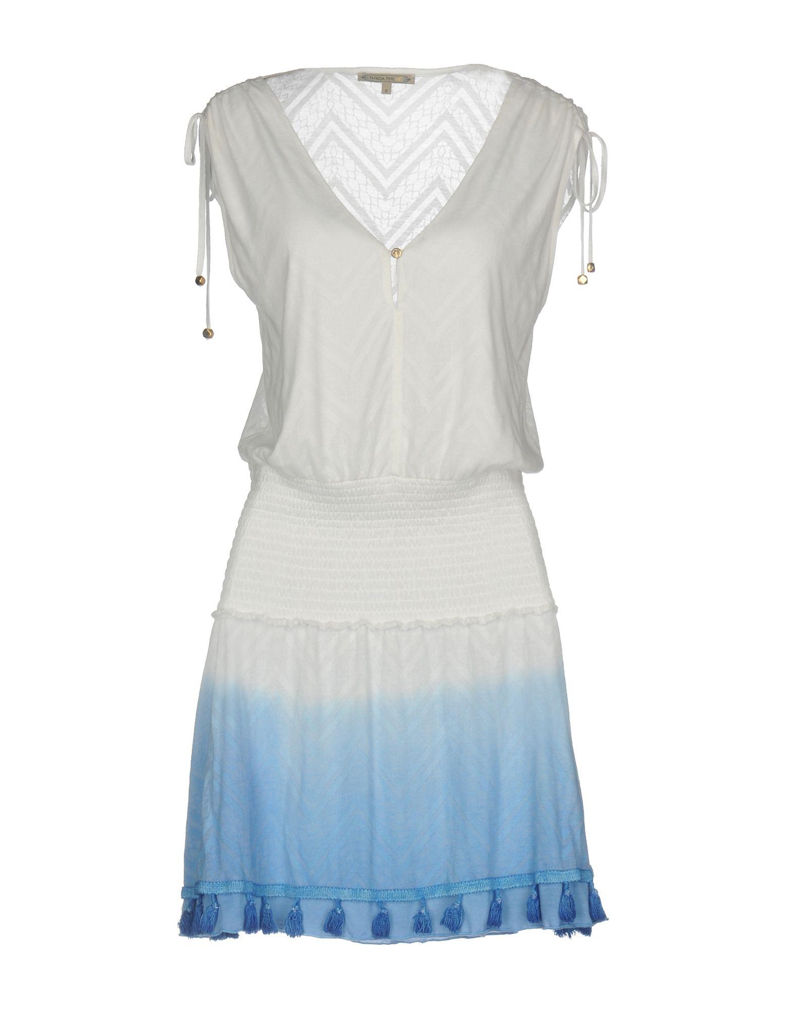 PATRIZIA PEPE Короткое платье patrizia pepe платье из ткани с креповым эффектом