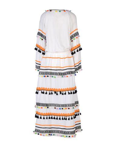 Фото 2 - Женское длинное платье DODO BAR OR белого цвета