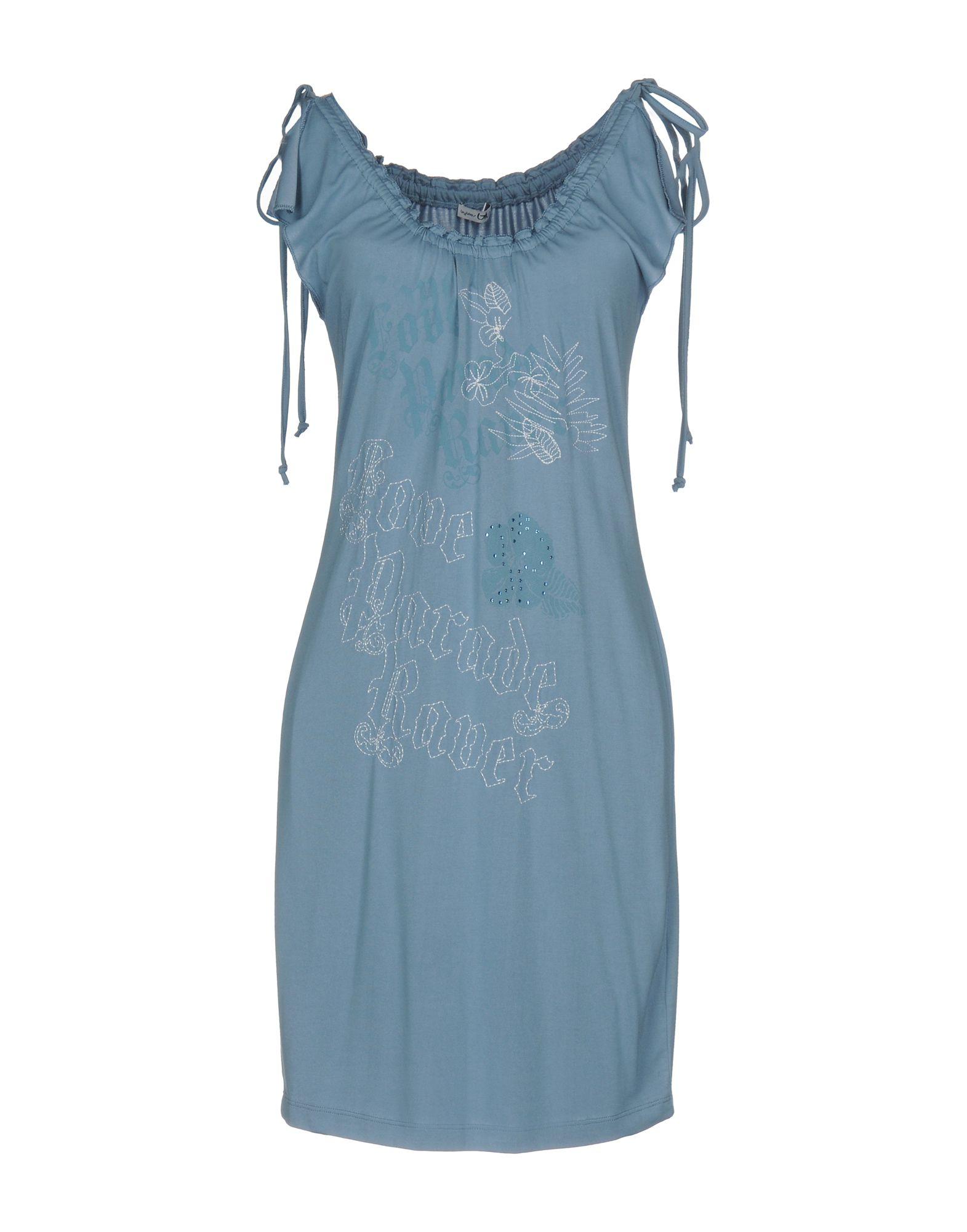 BLU BYBLOS Короткое платье платье для девочки bj8673 разноцветный byblos