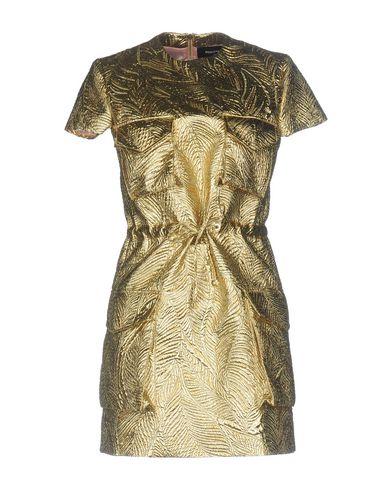 Купить Женское короткое платье  золотистого цвета