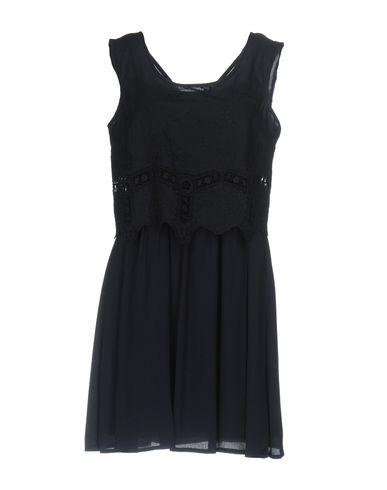 Фото - Женское короткое платье NAF NAF темно-синего цвета