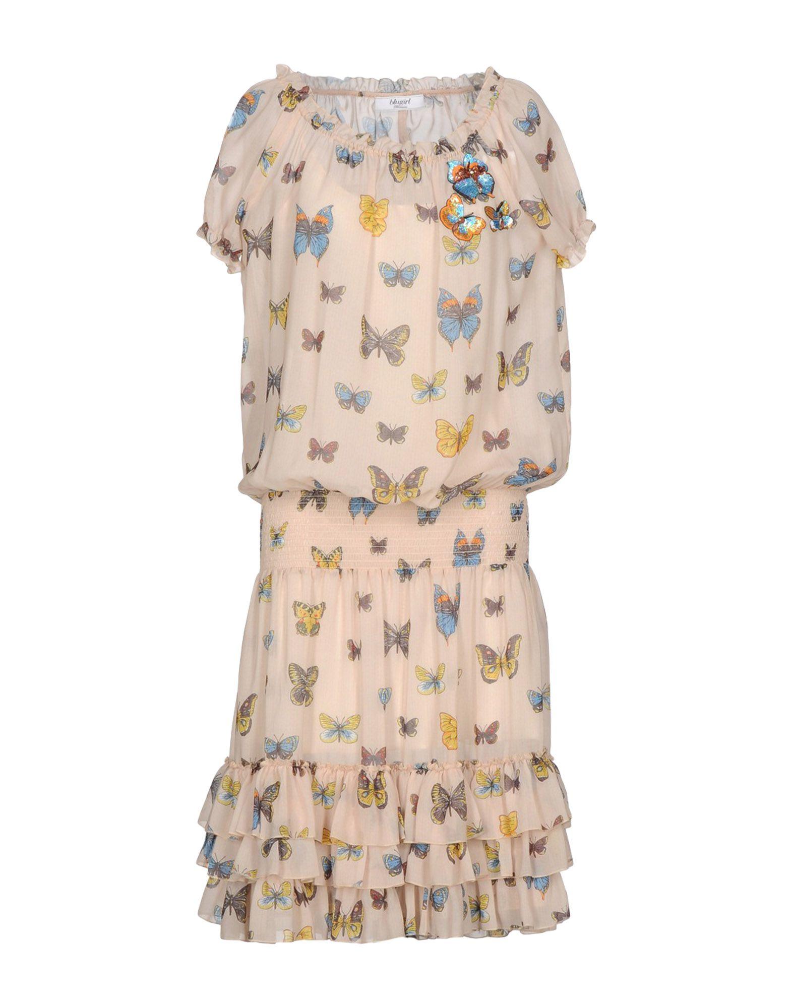BLUGIRL BLUMARINE Платье до колена рубашка blugirl рубашка