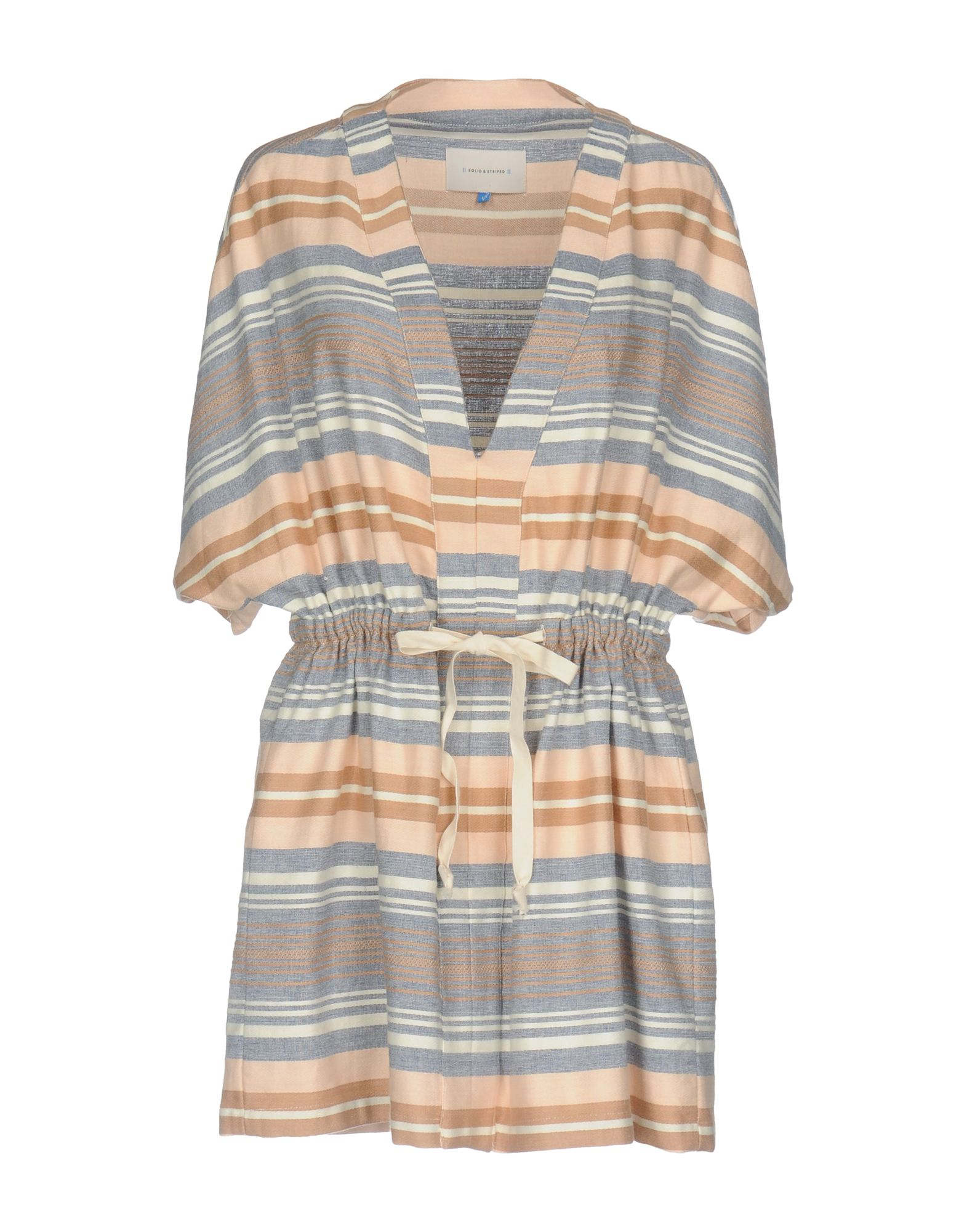 SOLID & STRIPED Короткое платье frilled trim striped bandeau top