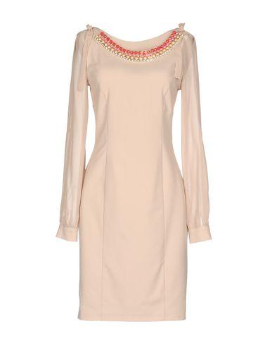 Фото - Женское короткое платье  цвет голубиный серый