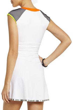 MONREAL LONDON Neon-paneled stretch-jersey mini dress