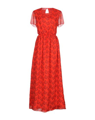 Купить Женское длинное платье  красного цвета