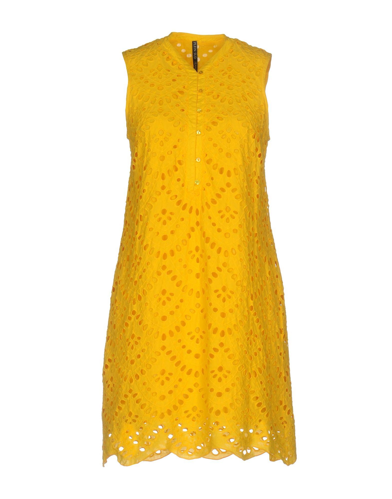 PLEIN SUD JEANIUS Короткое платье plein sud платье на одно плечо