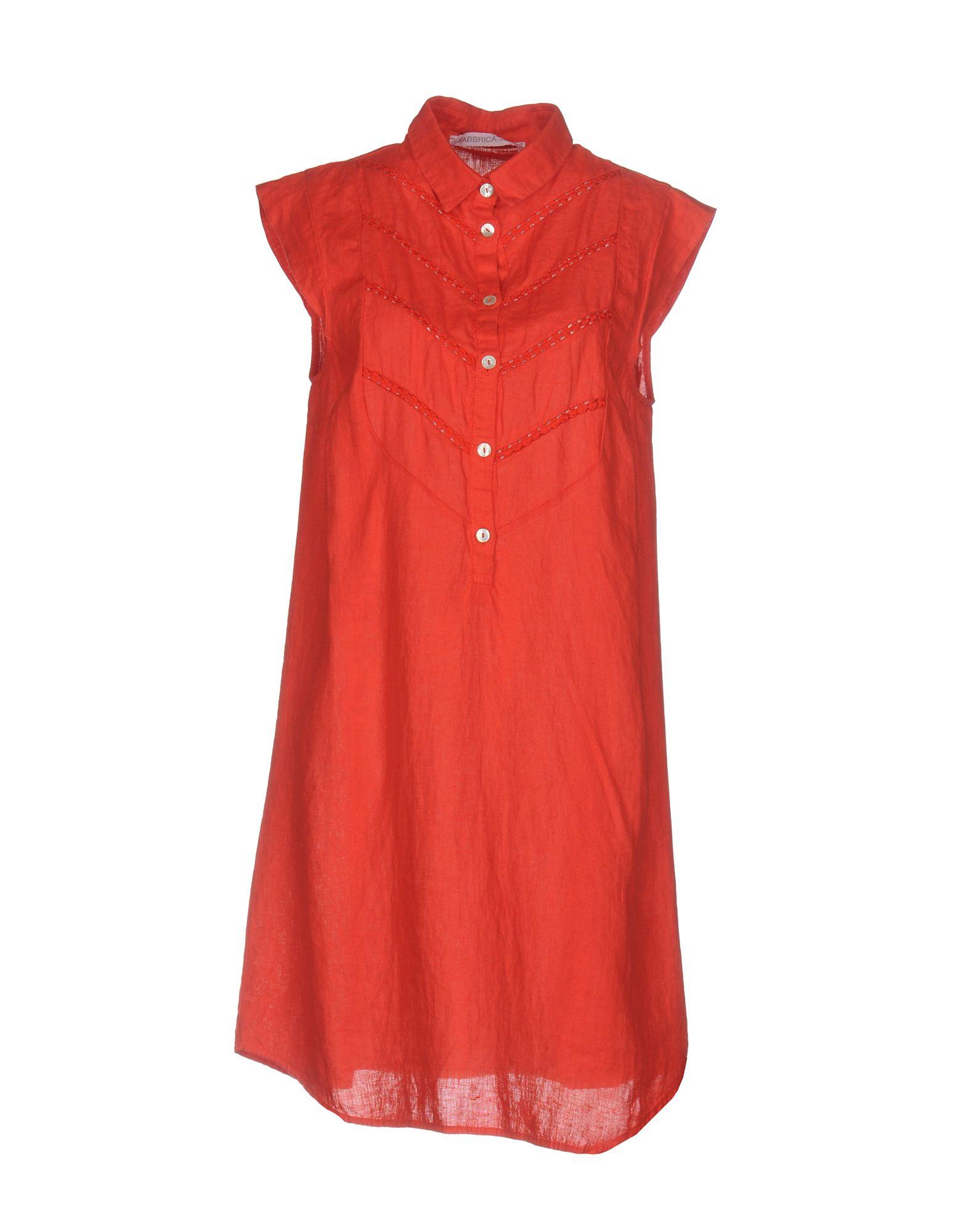 LA FABBRICA del LINO Короткое платье i ragazzi del rosso короткое платье