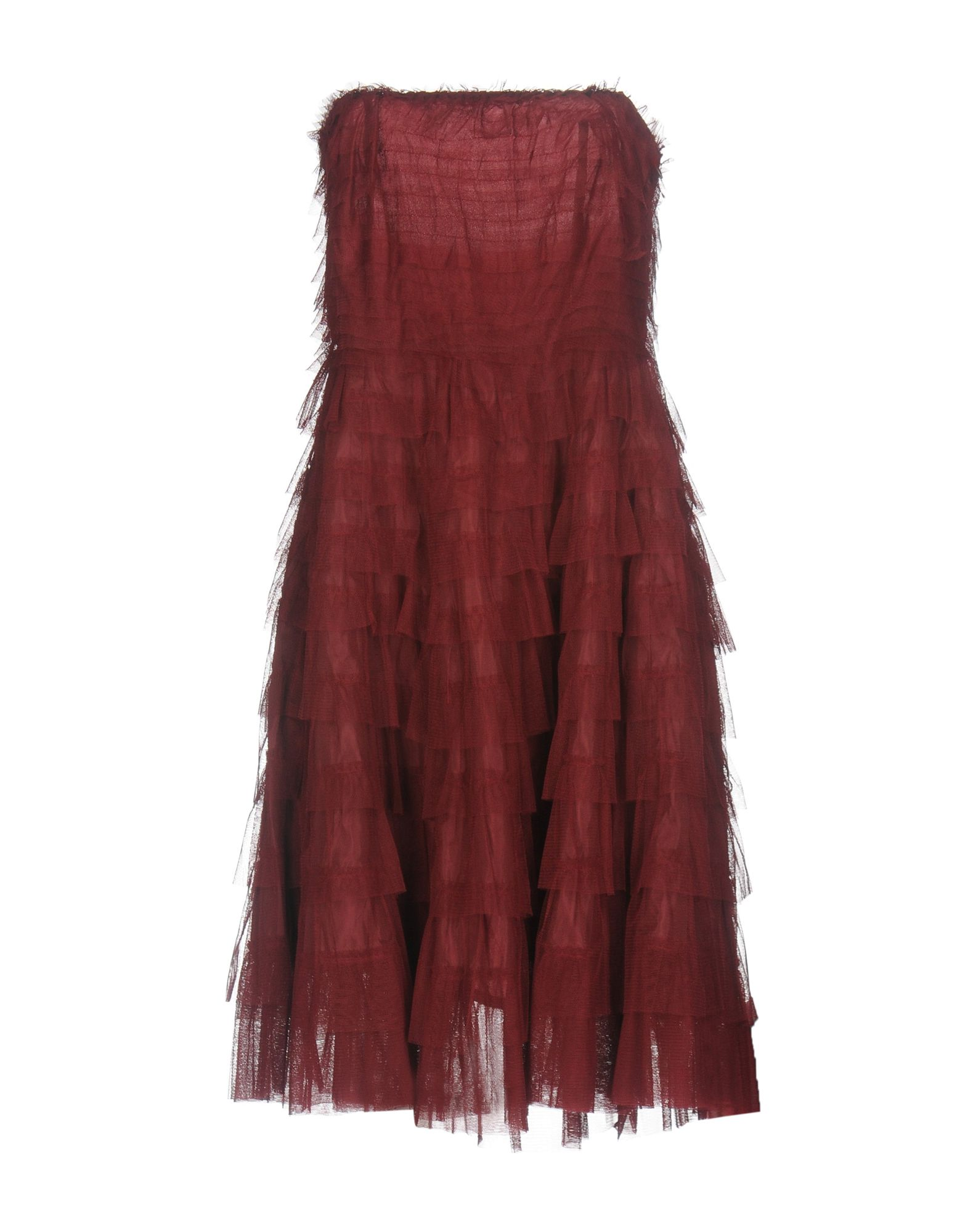 RISE Short Dresses in Maroon