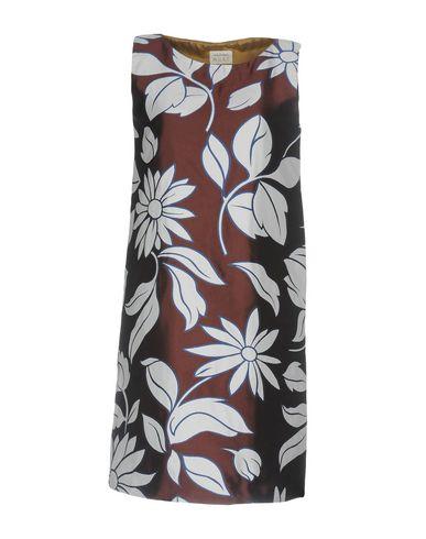 Купить Женское короткое платье MALÌPARMI M.U.S.T. темно-коричневого цвета