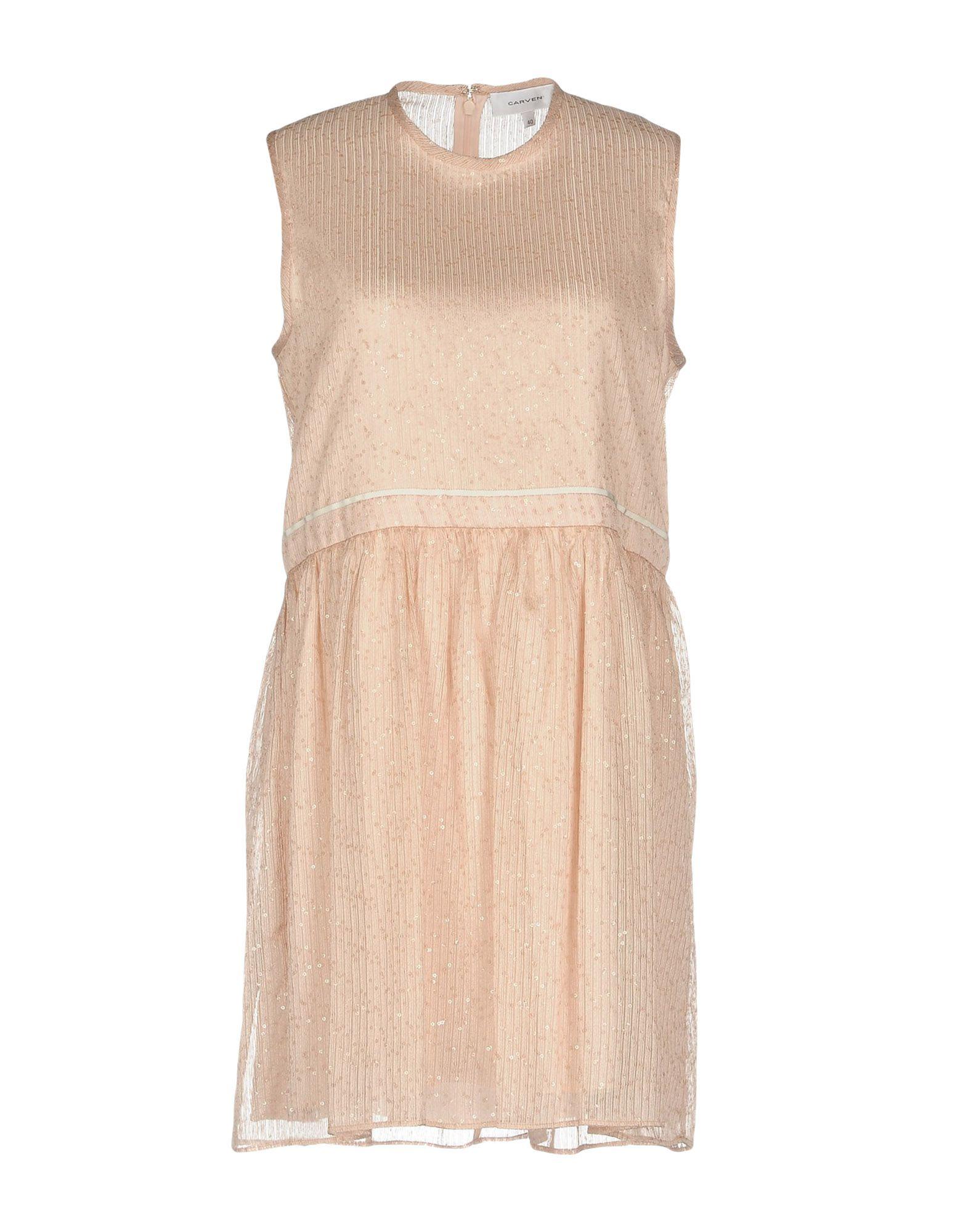 CARVEN Короткое платье lovaru ™новый 2015 мода новые печатные органза сладкий простой талии платье женщина casual платье
