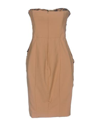 Фото 2 - Женское короткое платье  цвет песочный