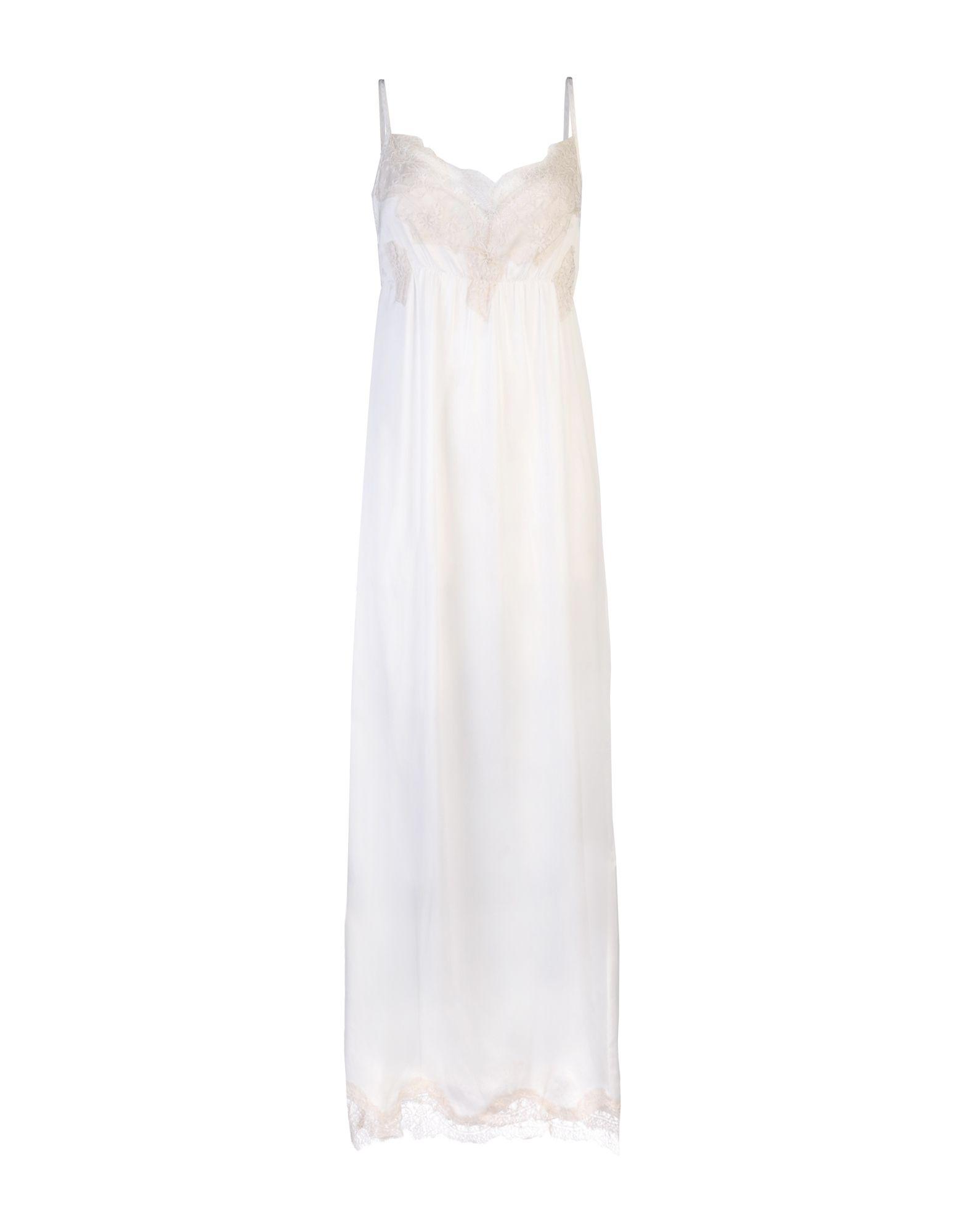 PINK MEMORIES Damen Langes Kleid Farbe Weiß Größe 6