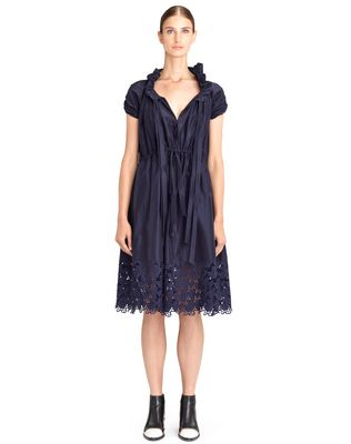 LANVIN Dress D POPLIN EMBROIDERED DRESS F