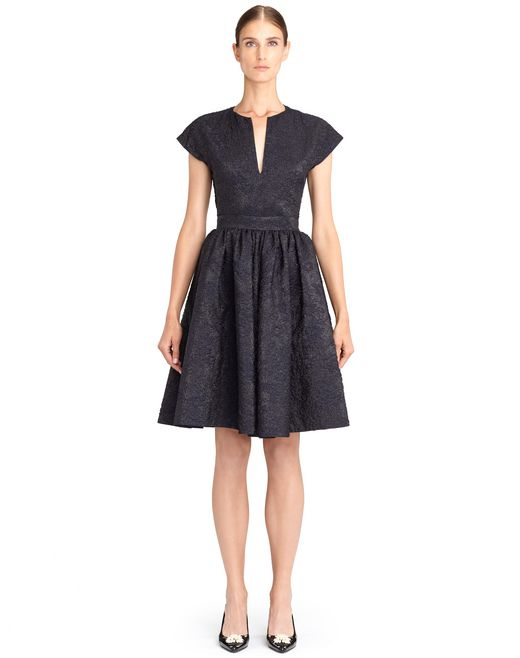 lanvin mid-length flared dress women