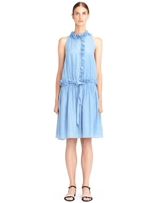 lanvin cotton veil dress women