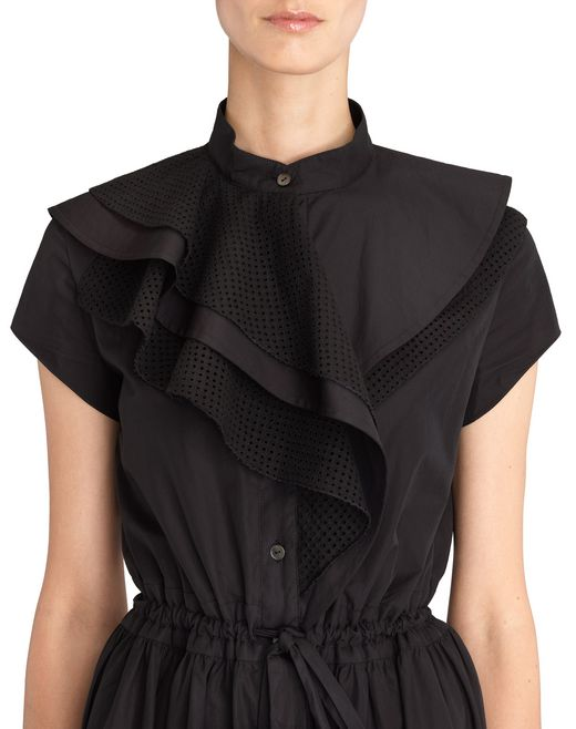 lanvin poplin dress women