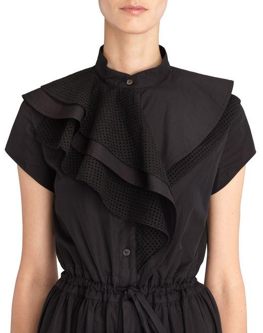 lanvin robe en popeline  femme
