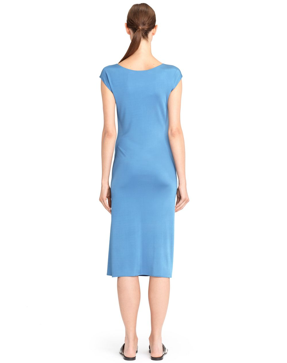 BLUE LANVIN DRAPED JERSEY DRESS - Lanvin