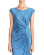LANVIN Dress Woman BLUE LANVIN DRAPED JERSEY DRESS f