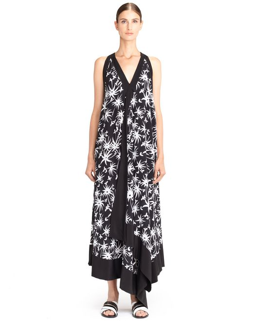 lanvin long handkerchief dress women