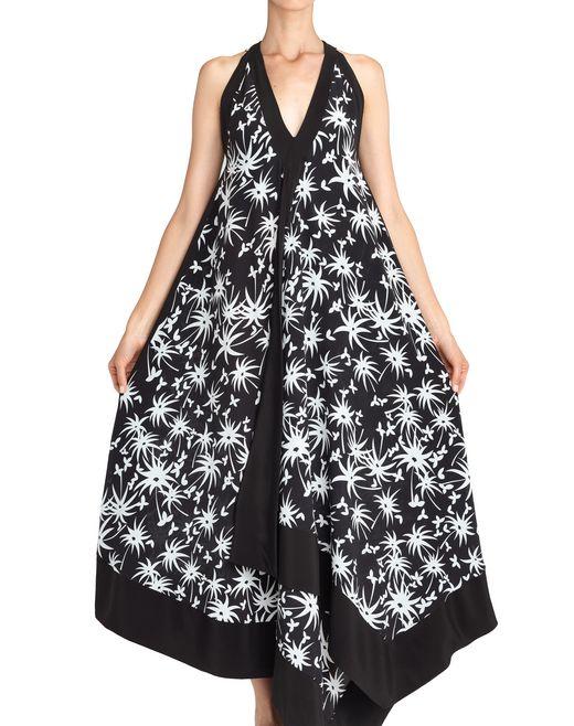 lanvin robe longue mouchoir femme