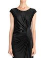 LANVIN Dress Woman BLACK DRAPED JERSEY DRESS f