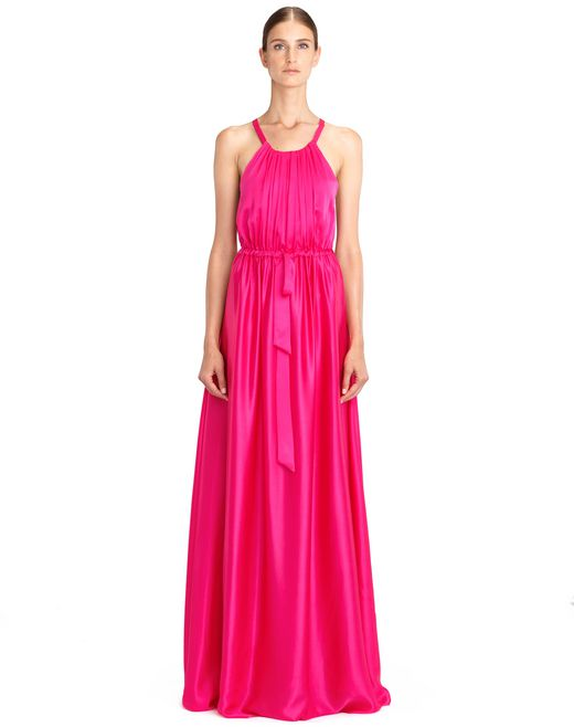 LONG BRIGHT PINK DRESS - Lanvin