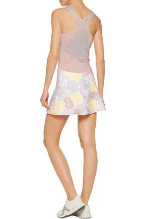 ADIDAS by STELLA McCARTNEY Mesh-paneled printed stretch-jersey tennis dress