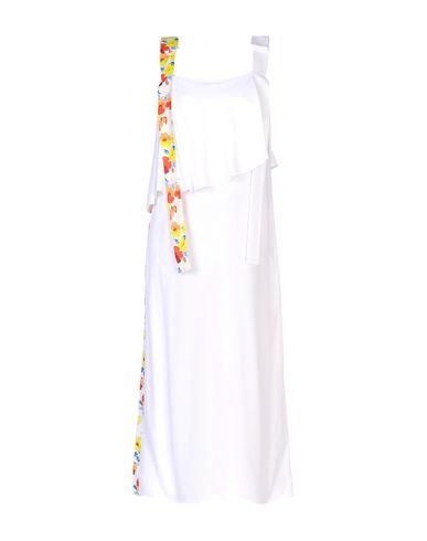 Фото - Женское длинное платье MSGM белого цвета