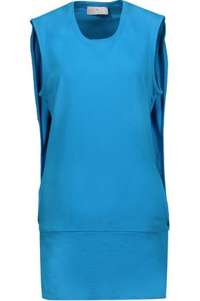 ADIDAS by STELLA McCARTNEY Layered stretch-cotton mini dress
