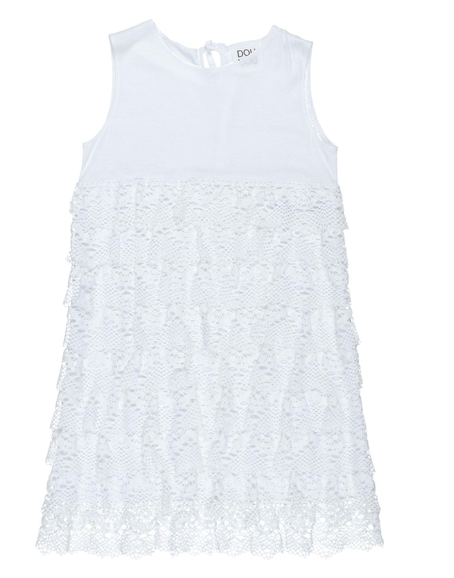 《送料無料》DOUUOD ガールズ 9-16 歳 ワンピース&ドレス ホワイト 10 コットン 100%