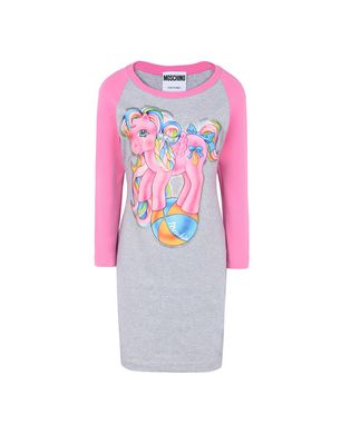 My Little Pony Printed Stretch-Cotton Jersey Mini Dress in Gray