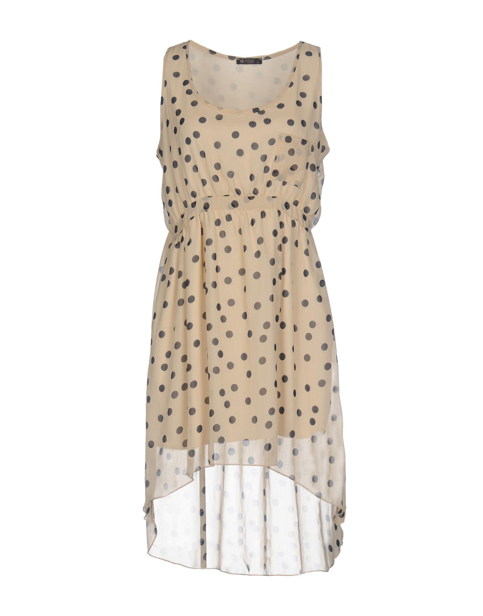 RISE Short Dresses in White