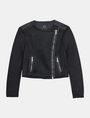 ARMANI EXCHANGE PIECED PERFORATED MOTO JACKET Jacket Woman b