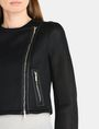ARMANI EXCHANGE PIECED PERFORATED MOTO JACKET Jacket Woman e