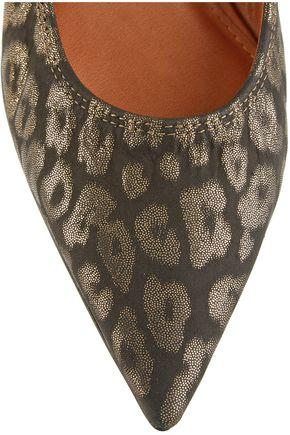 LANVIN Leopard-print suede point-toe flats