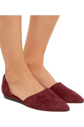 VINCE. Nina suede point-toe flats