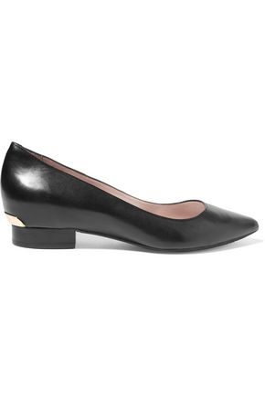 DKNY Polly leather point-toe flats